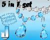 5 Jewelset Topaz-Diamond