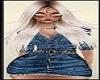 Sexy Blue Jean Dress Pretty Blond Lady