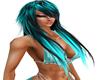 SexyBlackTurquoiseHair