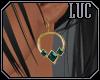 [luc] earrings g aqua