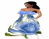 Rose Dress Blue/White