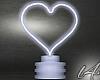 [L4]Heart Neon White