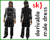 sk} Derivable male dress