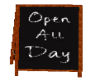 Open all day sign