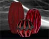 Red & Black Vases