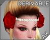 ~AK~ Hair Roses + Pearls