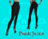 Punk Jeans- Black