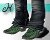{K} Snake Skin Green