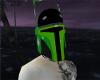 Blk/Green Mando Helmet