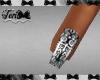 Silver Black Gothic Nail