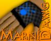 Blue Skull Glove Right