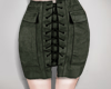 Army green, skirt.