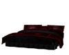 red black cuddle bed