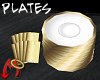 [m] Plates/Napkins Gold
