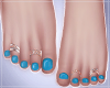 -S- Baby Blue Feet Gold