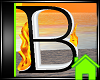 ! Animated Fire Letter B