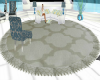 Teal collection rug
