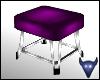 Purple satin ottoman