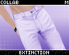 . purple denim pants