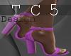 Dion purple heels