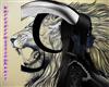 animatedblack/white horn
