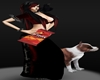 VAMP GOTHIC Pit Bull DOG and Crow PET Outfit161