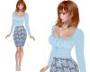 TF* Blue Top & Skirt