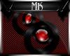 !Mk! Red Sphere Earings