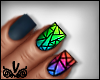 Crazy Triangles Nails $