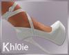 K Tina white heels
