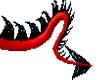 !! red&black pvc tail