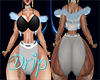 Sassy Drip Fur Vest Blue