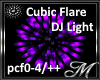 Purple Cubic DJ Light