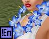 !Em Blue Flower Lei Luau