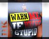 |Warn Me` T-shirt|
