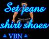 Set jeans shirt shoes B