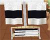 B&W Towel Rack