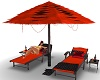 Redd & Blk Lounge Chairs