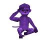 Spanky t purple monkey