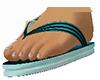 Summer Flipflops Blue