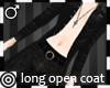*m Blak Open Long Coat