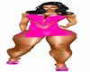 vestido rosa bf