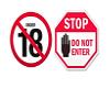 AHO No under 18 Sign