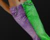Jeans Purple & Green Sin