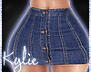 RLL Sexy DarkDenim Skirt