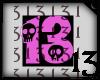 13 Skull Pink Lght BlkBG