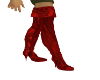 red silk boots