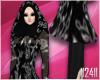 24: Black Floral Hijab