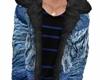 blue furr coat