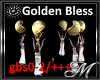 Gold Bless Statue Sphere